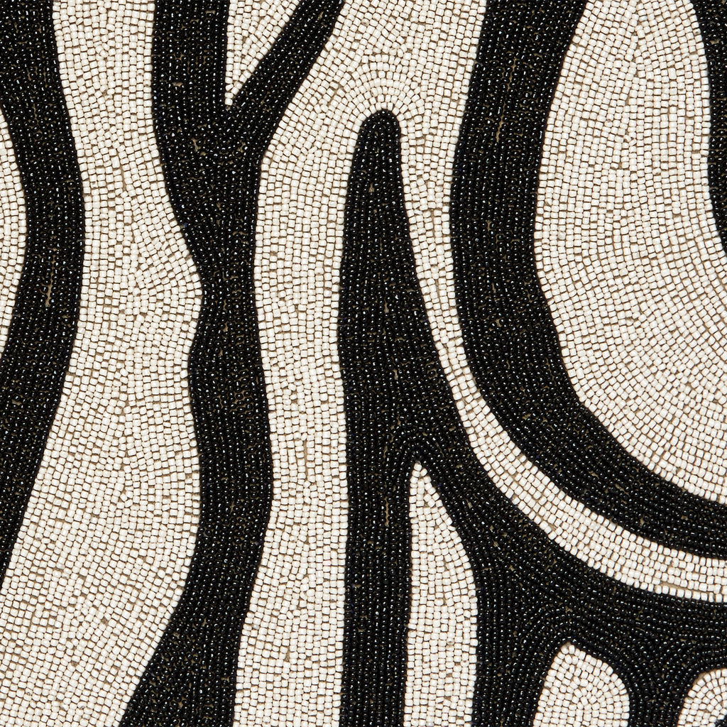 Zebra placemat, black