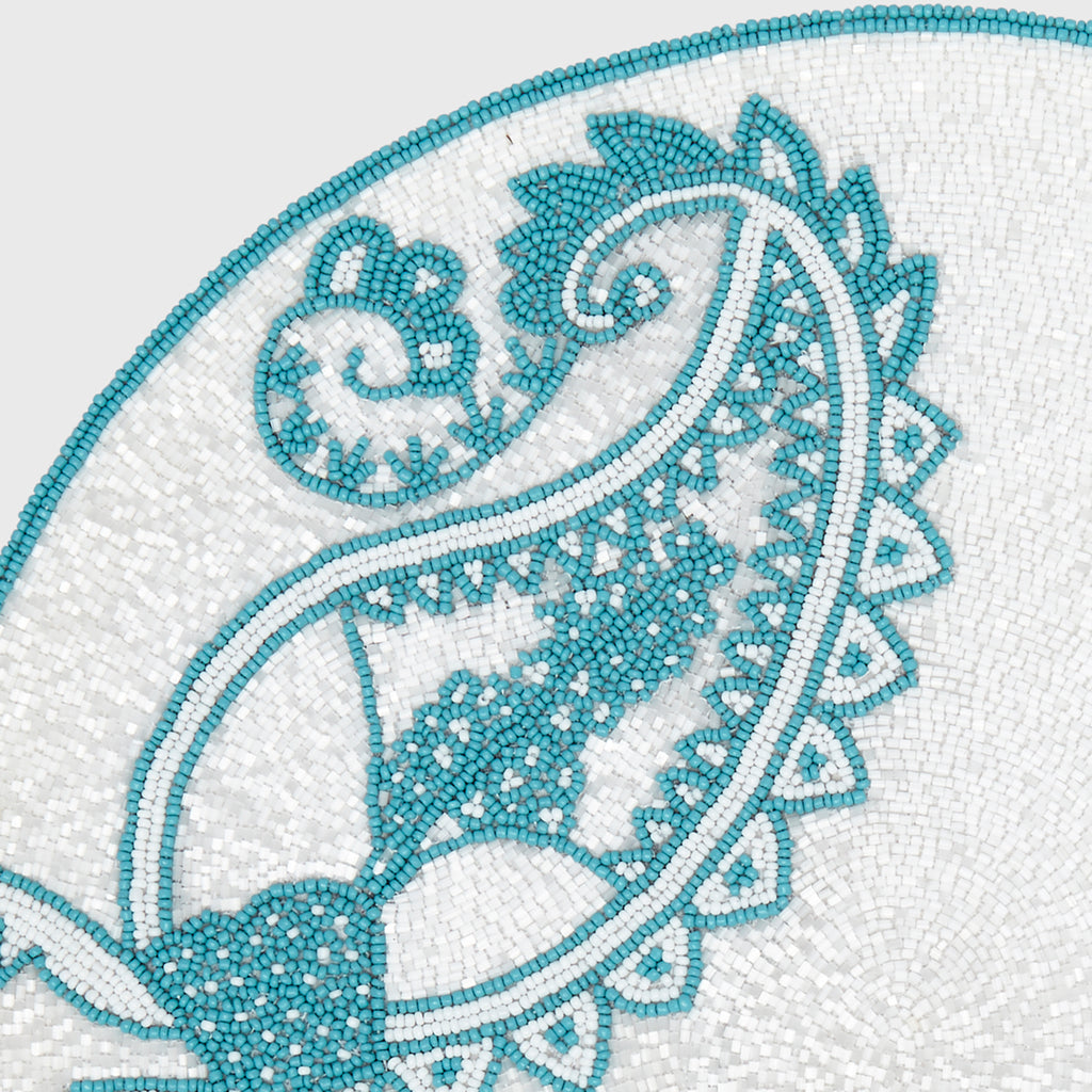 Paisley placemat, turquoise