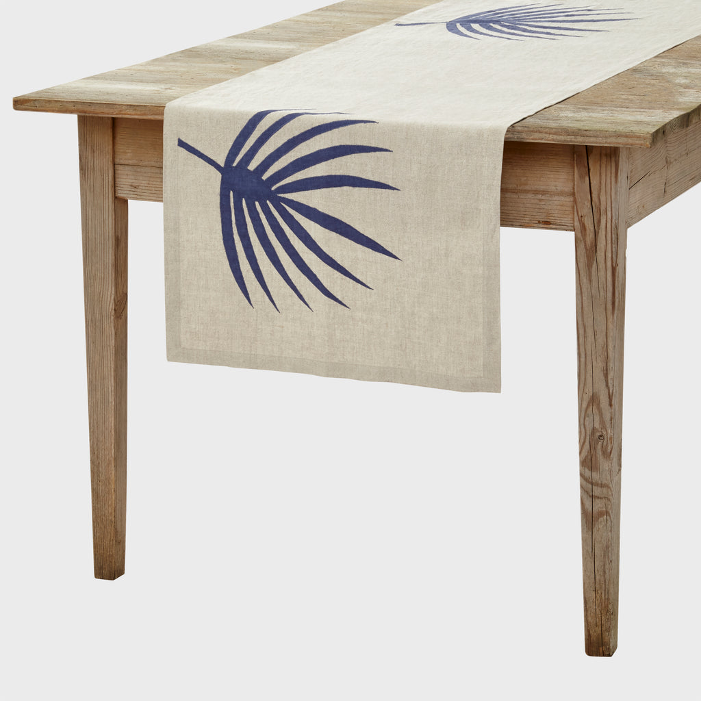 Palm frond table runner