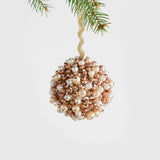 Multi pearl ball ornament, champagne and topaz