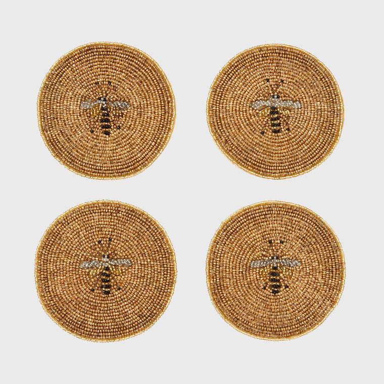 Stripey bee coasters