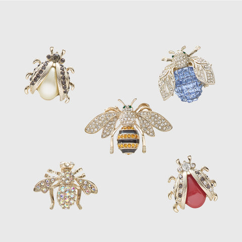 Sparkle bee brooch, topaz