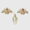 Jeweled insect clip set