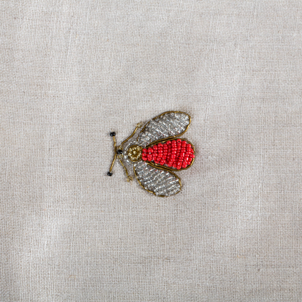 Embroidered sparkle bee table runner