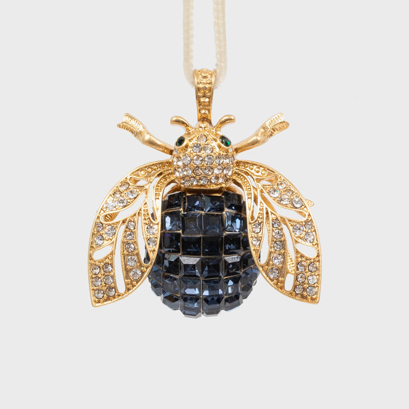 Sparkle bee hanging ornament, navy