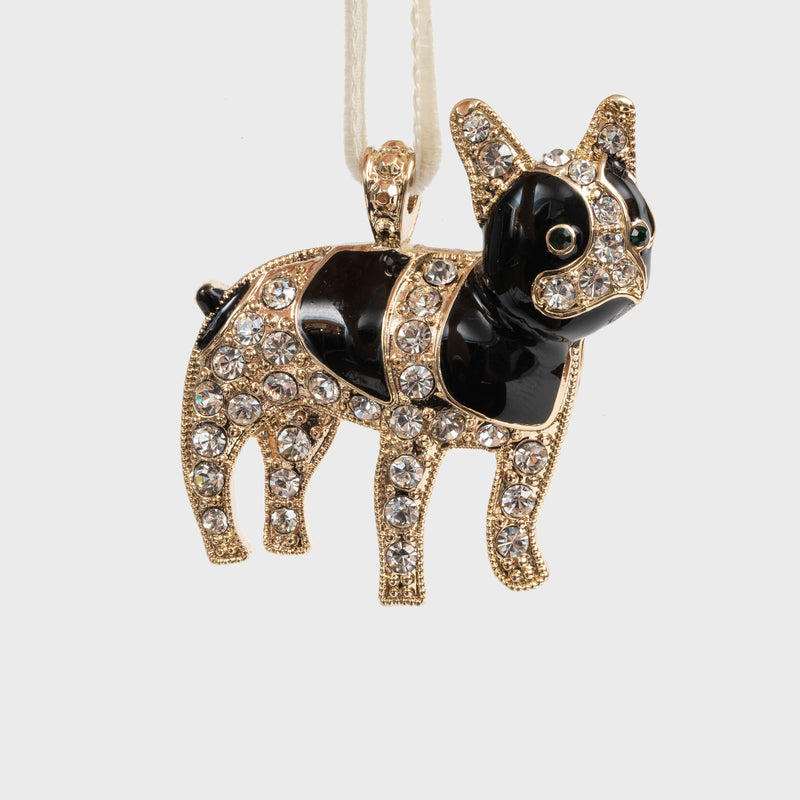 Frenchie hanging ornament