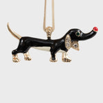 Sausage dog hanging ornament