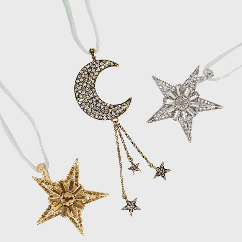 Celestial hanging ornaments, set of three