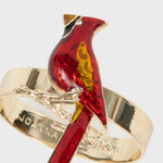 Cardinal skinny napkin rings, set of four