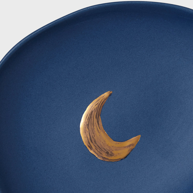 Moon porcelain ring dish