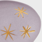 Star porcelain ring dish, lilac