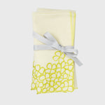 Hydrangea dinner napkins, citrus, set of two