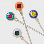 Enamel gem cocktail picks