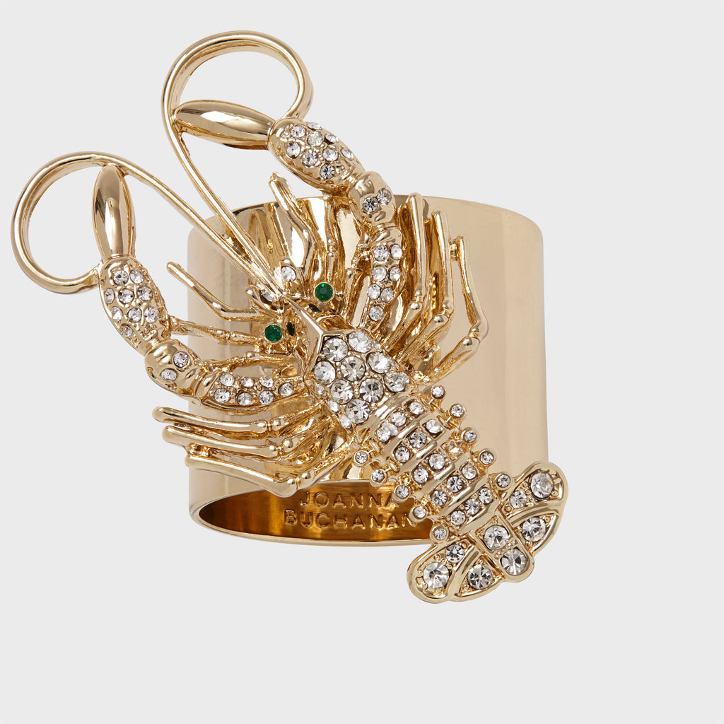 Sparkle lobster napkin rings, set of two