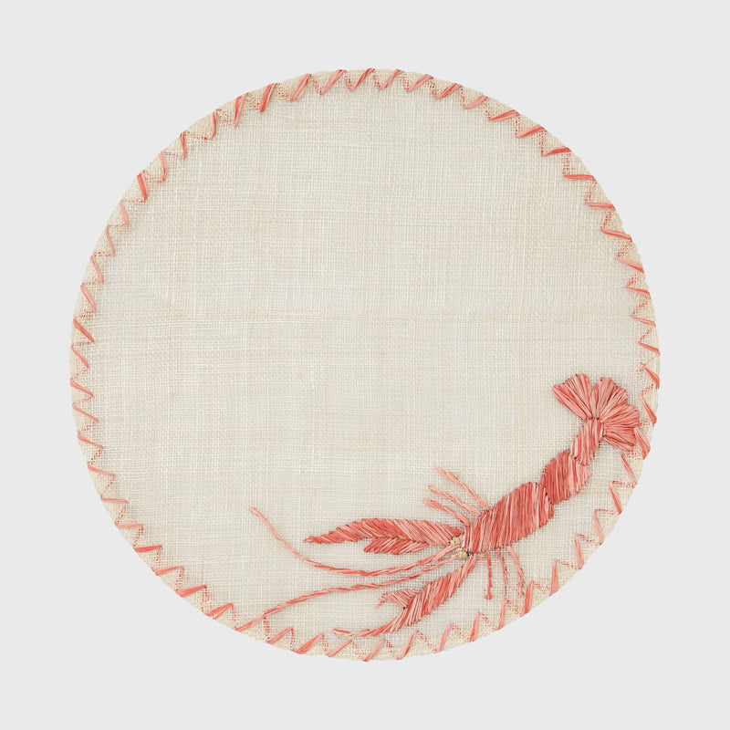 Straw lobster placemat