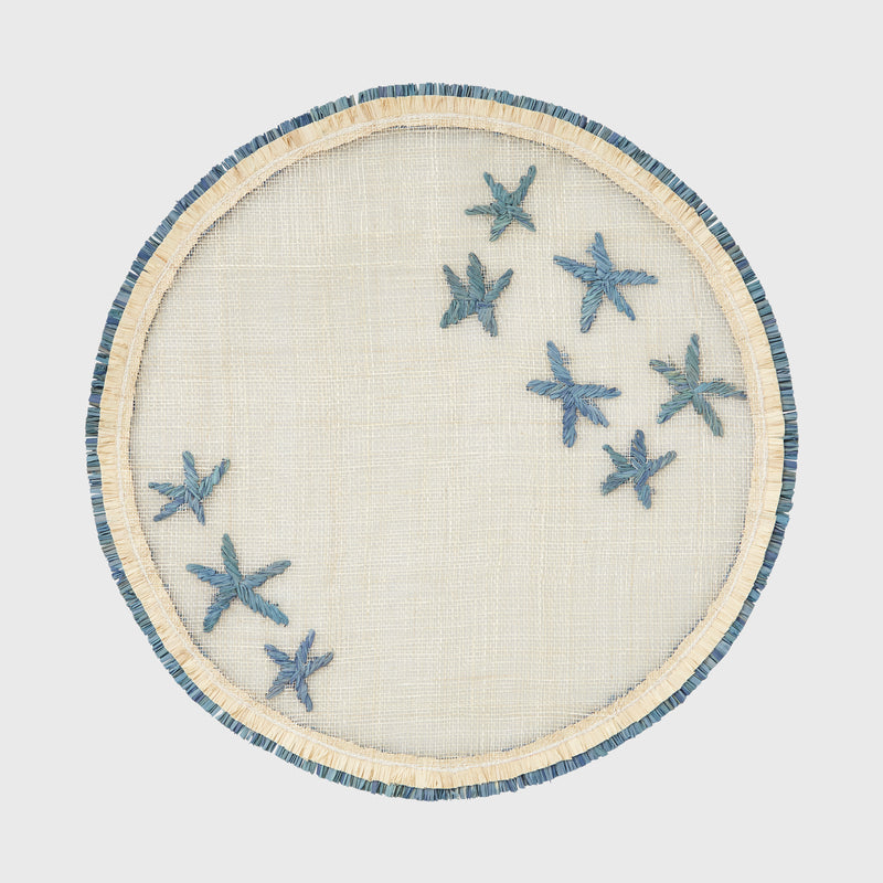 Straw star placemat