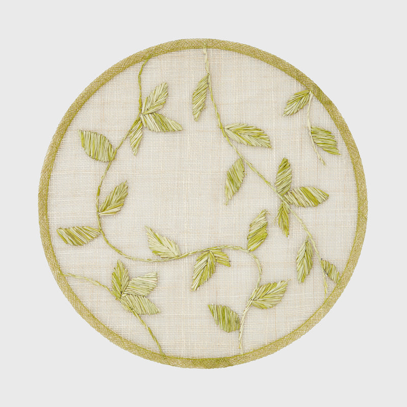 Straw leaf placemat, citrus