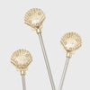 Shell swizzle sticks
