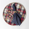 Embroidered bee plaid placemat