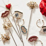 Lucky charm cocktail picks