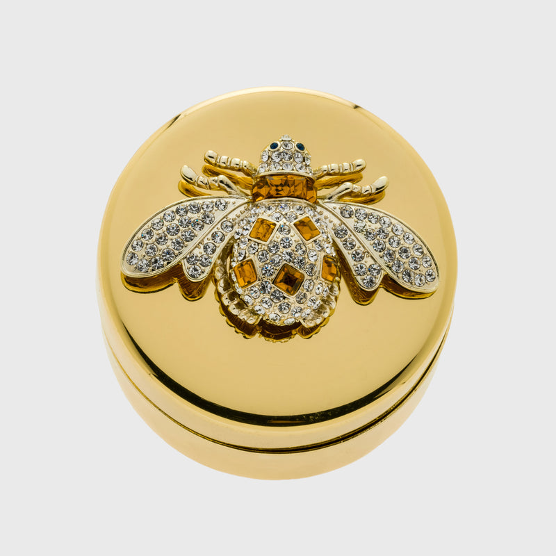 Amber bee jewelry box