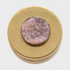 Druzy large antique gold jewelry box, pink