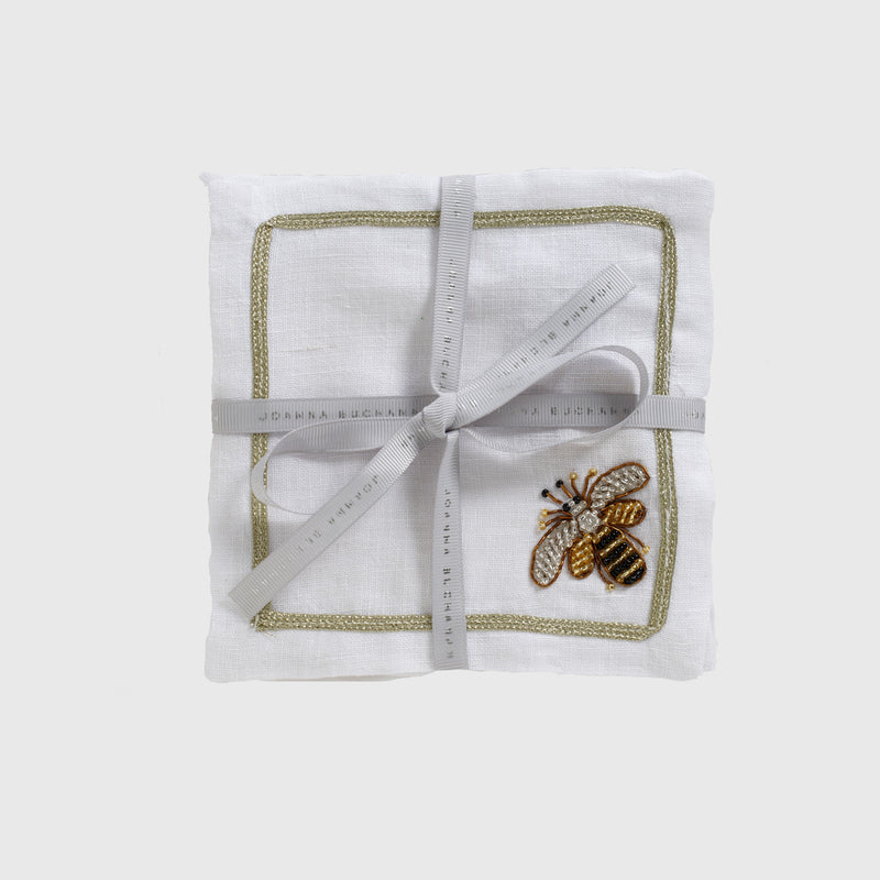 Stripey bee cocktail napkins