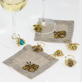 Mini bee cocktail napkins, set of four