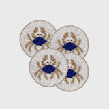 Crab coasters, set of four