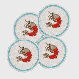 Shrimp coasters, set of four