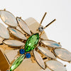 Dragonfly napkin rings, opal, set of two