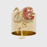Flamingo napkin rings,set of two