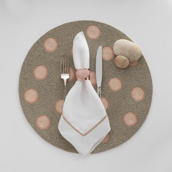 Dot placemat, coral