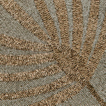 Palm frond placemat, neutral