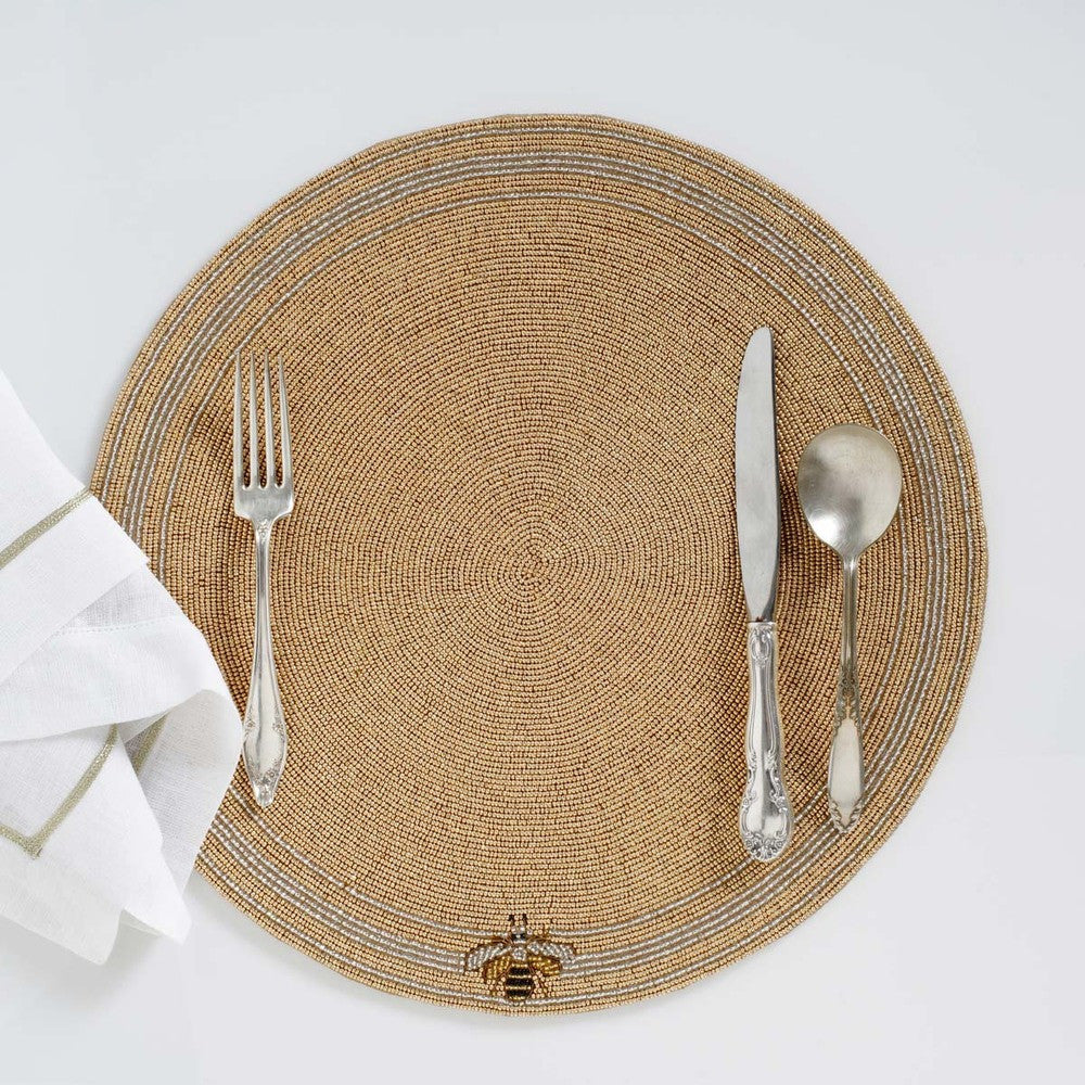 Stripey bee placemat