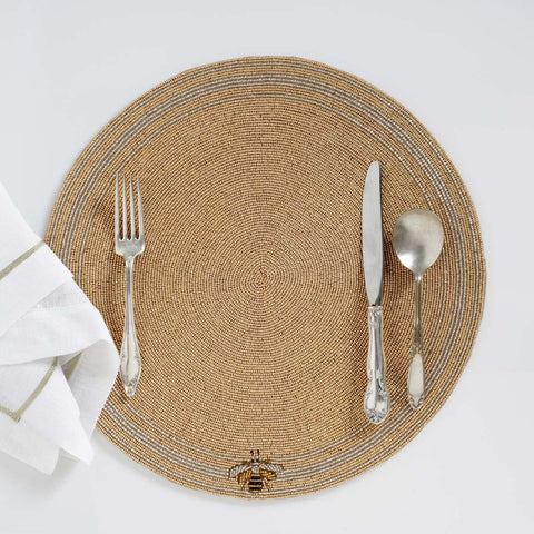 Star placemat, gold/silver