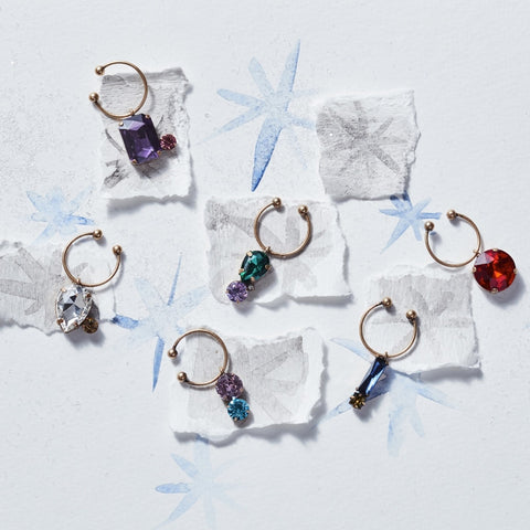 Bedazzled bee wine charms, dark jewel tones