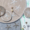 Starfish placemat, taupe