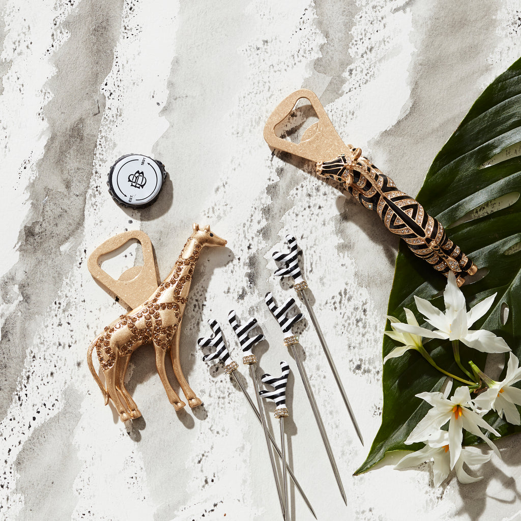 Zebra bottle opener