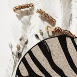 Zebra placecard holders, set of two