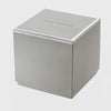 Druzy large antique silver jewelry box, crystal