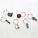 Jeweled wine charms