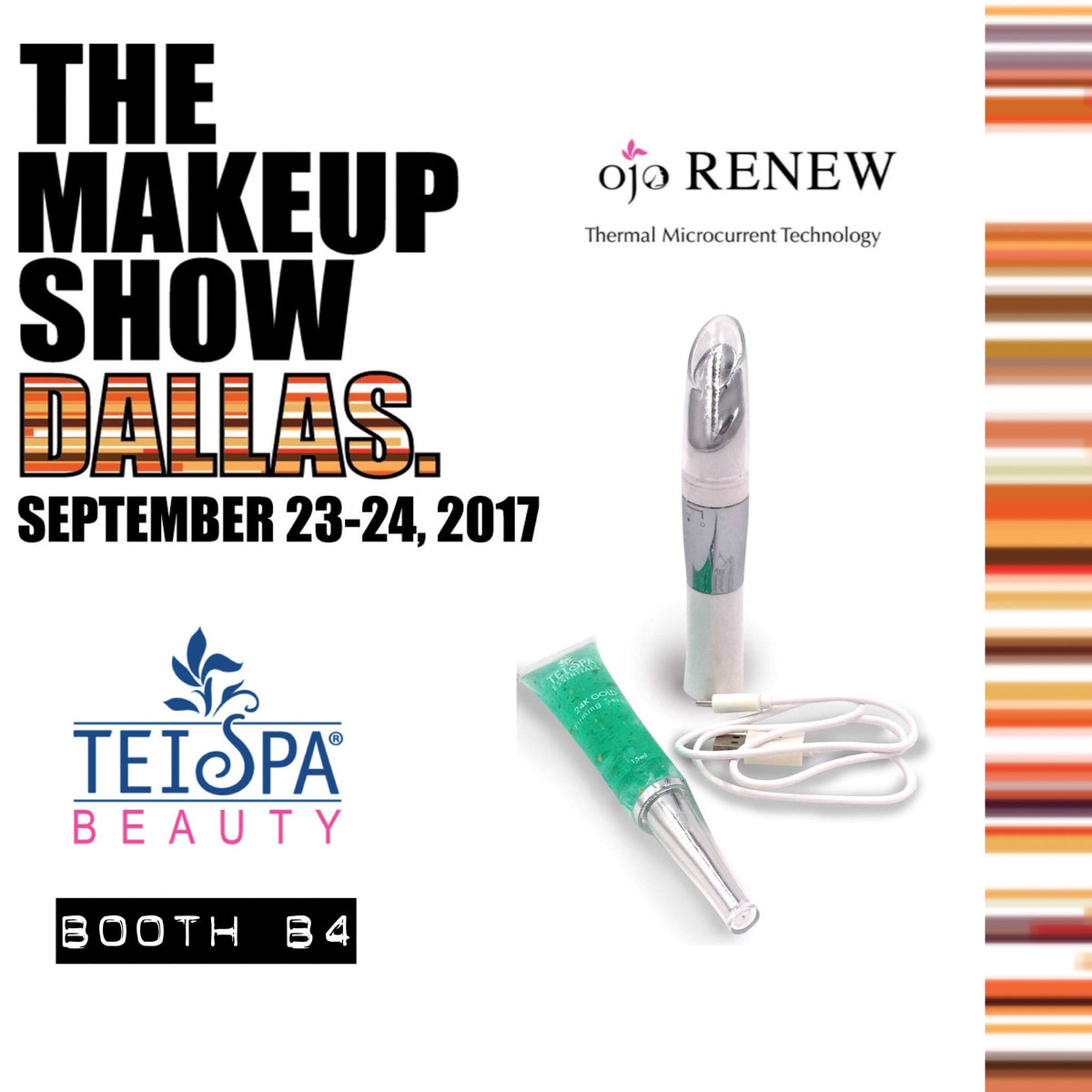 Hey Texas! We'll be @THEMAKEUPSHOW IN DALLAS - BOOTH B4  -