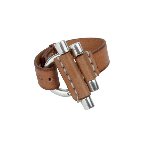 Sterling Silver Plated Leather Bracelet