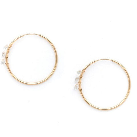 Salena Herkimer Hoop Earrings