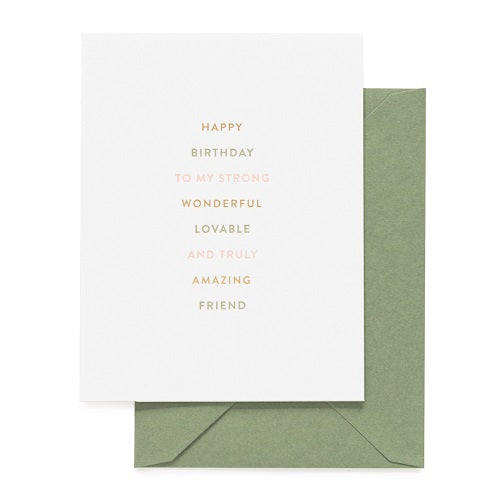 Truly Amazing friend Card