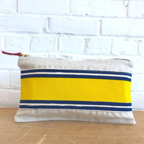 Erin Flett - Banded Clutch Lemon and Navy