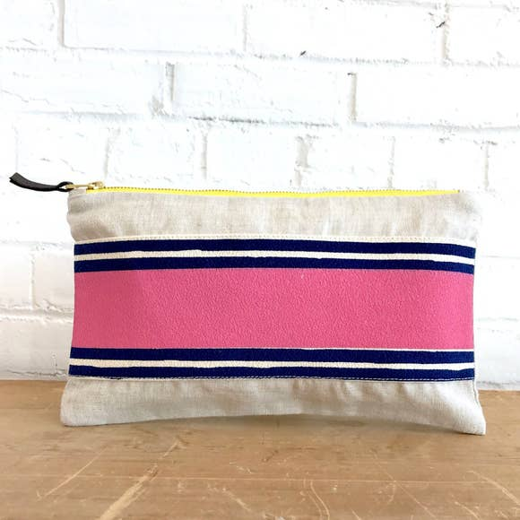 Erin Flett - Banded Clutch Pink and Navy