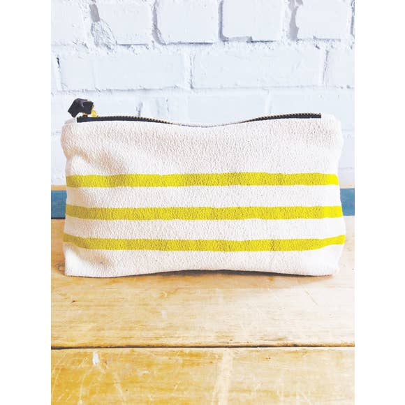Erin Flett - Golden Rod 3 Lines Makeup Zipper Bag
