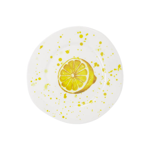 Melamine Fruit Salad Plate - Lemon